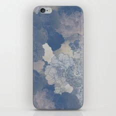 Airforce Blue Floral Hues  iPhone & iPod Skin