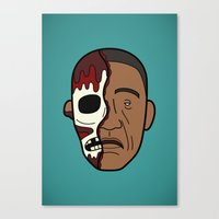Faces of Breaking Bad: Gustavo Fring (Face-Off) Canvas Print