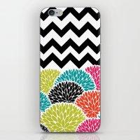 Tropical Flowers Chevron iPhone & iPod Skin