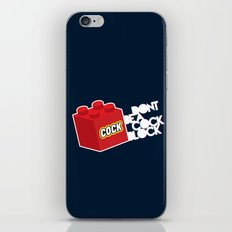 The Dreaded Cock Block iPhone & iPod Skin
