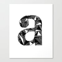 A Is For Canvas Print