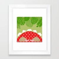 hedge-hug Framed Art Print