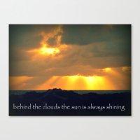 The Sun Shines Through The Clouds Canvas Print
