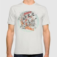 Earth's Mightiest Heroes Mens Fitted Tee Silver SMALL