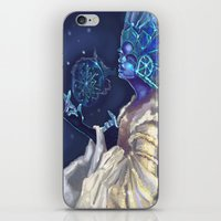 Snow Queen And A SnowFla… iPhone & iPod Skin