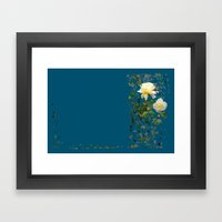 Roses on a string Framed Art Print