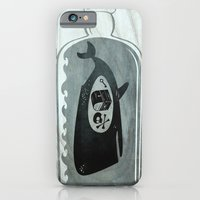 iPhone & iPod Case featuring Whale in a Bottle | Treasure and Skull by C Barrett