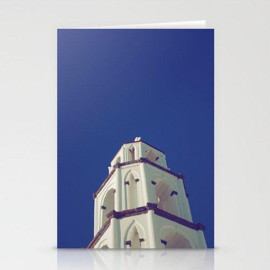 Santorini Churches III Stationery Card