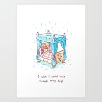 Rainy Days 2 Art Print