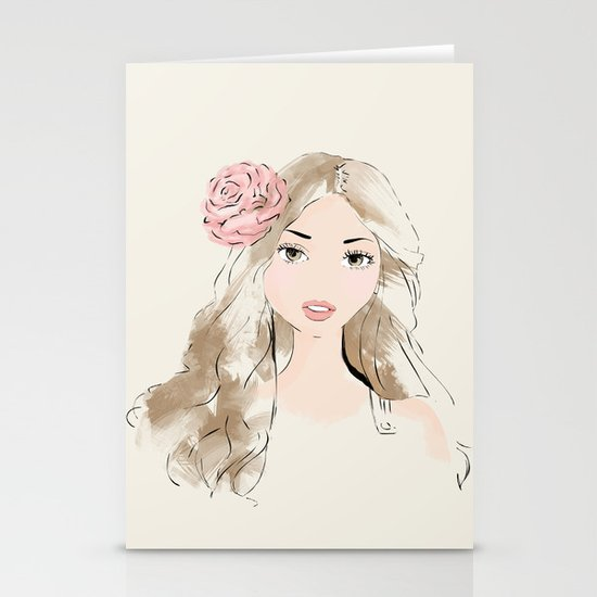 girlie Stationery Card