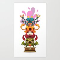 Monster´s Totem Art Print