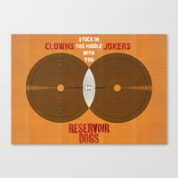 Reservoir Dogs - Venn Diagram : Stuck in the Middle with you Canvas Print