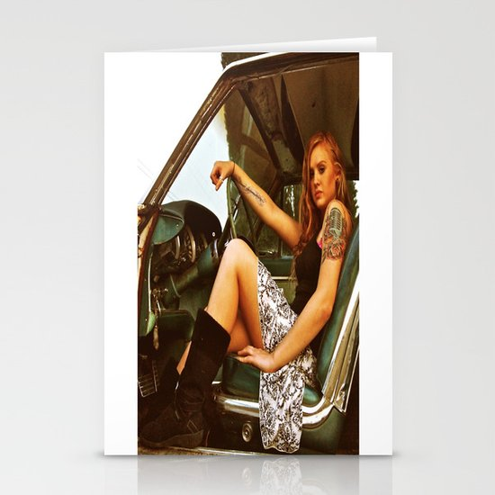 Kat and T-Bird Stationery Card