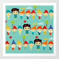 Snow White And The 7 Dwa… Art Print