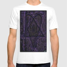 Nightmare Heartagram White Mens Fitted Tee SMALL