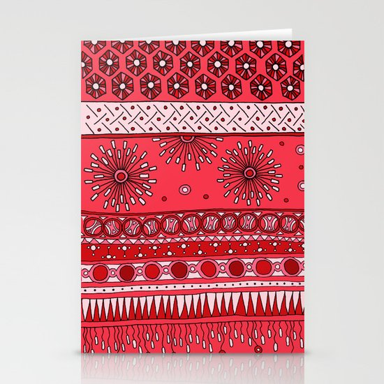 Yzor pattern 007-3 pink Stationery Card