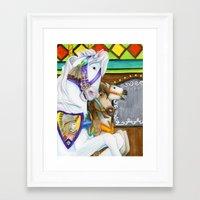 Carousel Horse - Perpetual Race Framed Art Print