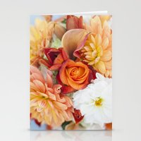 orange, yellow and white flowers  Stationery Cards