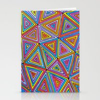 triangle Stationery Cards featuring Triangle by Neon Wonderland