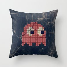 Pac-Man Pink Ghost Throw Pillow