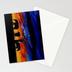 Sunset Elephants Stationery Cards