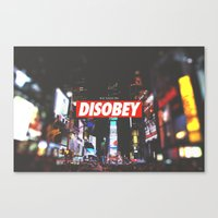 We Need To DISOBEY Canvas Print