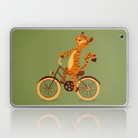 Tiger on the bike Laptop & iPad Skin