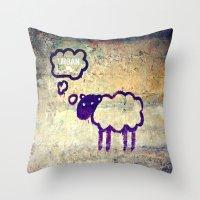 Urban Sheep Throw Pillow