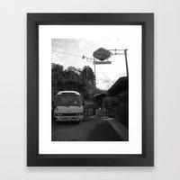La Casita del Cafe Framed Art Print