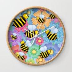Busy Buzzers. Wall Clock