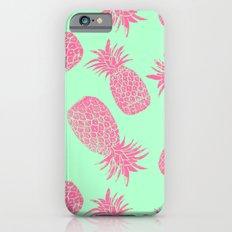 Pineapple Pattern - Mint & Crimson iPhone 6s Slim Case