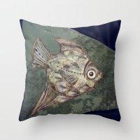 Stone Fish Throw Pillow
