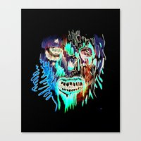 Face Illustration 3 Canvas Print