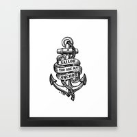 You Are My Anchor Framed Art Print