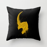 Mischief Splatter Throw Pillow