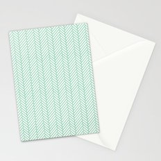 Herringbone Mint Stationery Cards