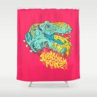 Jurassick Puke Shower Curtain
