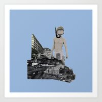 Dive In The City Art Print