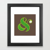 Et worm Framed Art Print