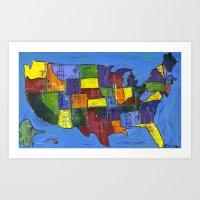 U.S.A. Art Print