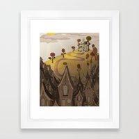 Village Framed Art Print