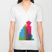 Shapes of Vancouver. Accurate to scale. Unisex V-Neck