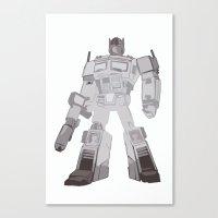 Optimus Black and White Canvas Print