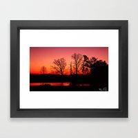 Fire In The Sky... Framed Art Print