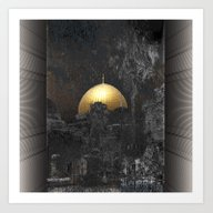 Art Print featuring Dome Of The Rock by Dominiquelandau