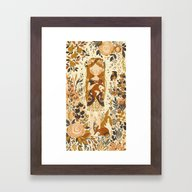 The Queen Of Pentacles Framed Art Print