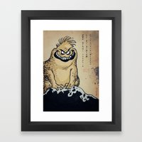 Kaiju parchment Framed Art Print
