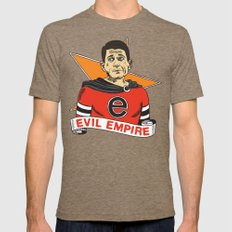 Ryan's Evil Empire Mens Fitted Tee Tri-Coffee SMALL