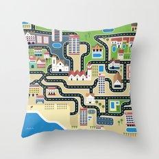 Central Algarve Throw Pillow