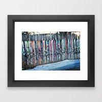 Skis Framed Art Print